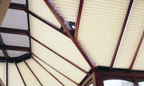 Versatile pleated roof blinds by Harmony of Bristol